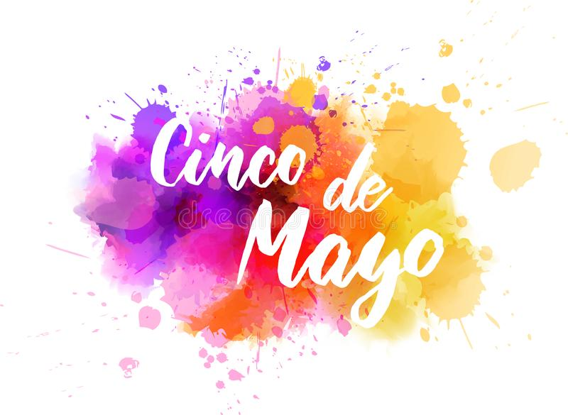 Cinco DE Mayo royalty-vrije illustratie