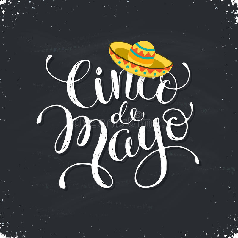 Cinco de Mayo illustration royaltyfri illustrationer