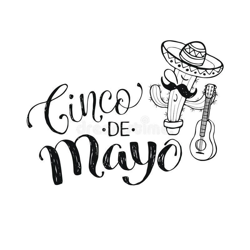 Cinco de Mayo illustration royalty free illustration