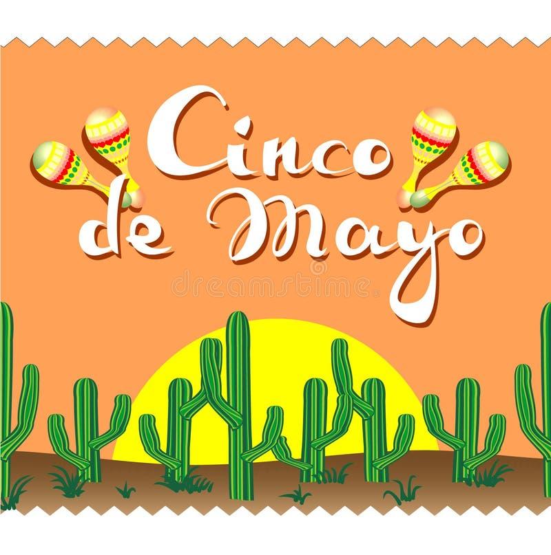 Cinco de Mayo, kaktusy, literowanie, marakasy