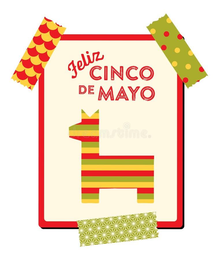Cinco de Mayo - kartka z pozdrowieniami ilustracja wektor