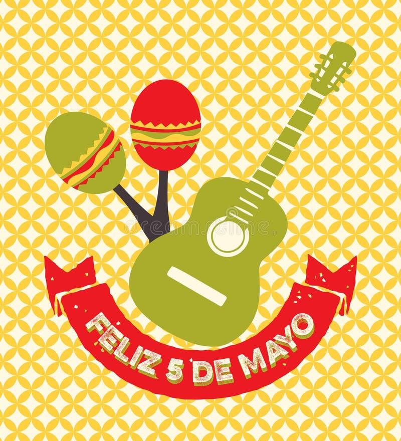 Cinco de Mayo - kartka z pozdrowieniami royalty ilustracja