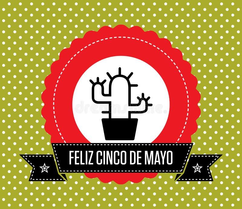 Cinco de Mayo - kartka z pozdrowieniami ilustracji