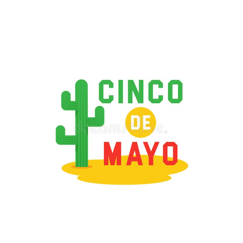 Cinco de Mayo -May 5th- typography banner vector. Mexico design for fiesta cards or party invitation and poster. Collection of Cin stock illustration