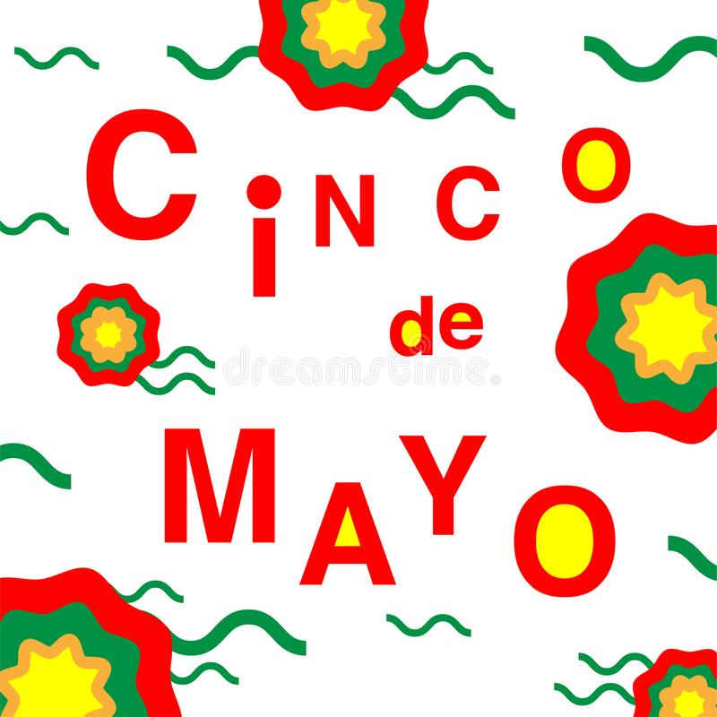 Cinco de Mayo - Mei 5 stock illustratie