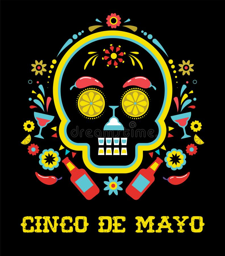 Cinco de Mayo, Meksykański fiesta, wakacyjny plakat, partyjna ulotka, kartka z pozdrowieniami ilustracja wektor
