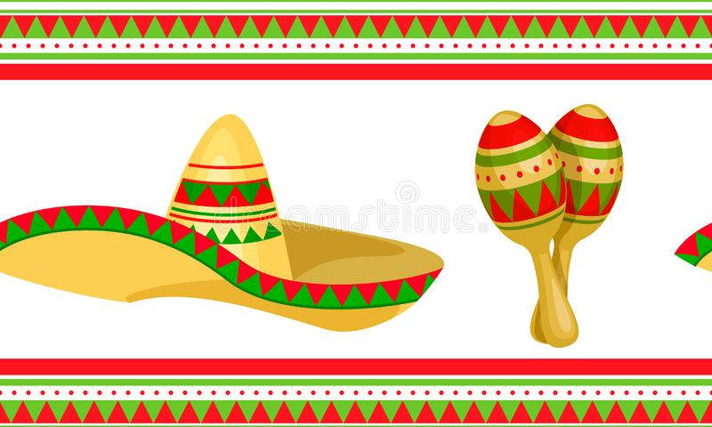 Cinco de Mayo Mexican festlig s?ml?s modell vektor illustrationer