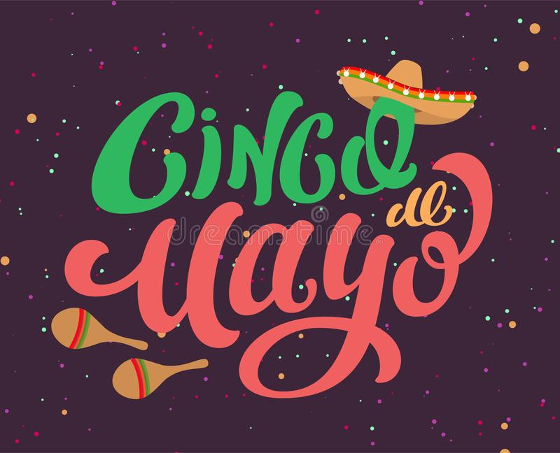 Cinco de mayo mexican holiday text banner for greeting card stock download cinco de mayo mexican holiday text banner for greeting card stock vector illustration of m4hsunfo Image collections