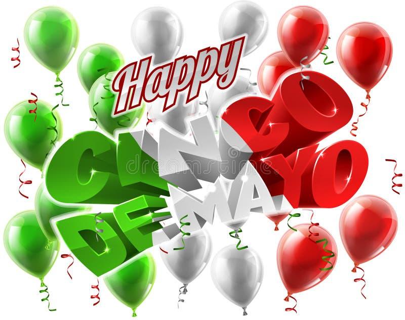 Cinco De Mayo Mexican Holiday Themed bakgrund stock illustrationer