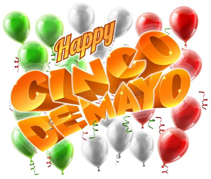 Cinco De Mayo Mexican Holiday Themed bakgrund royaltyfri illustrationer