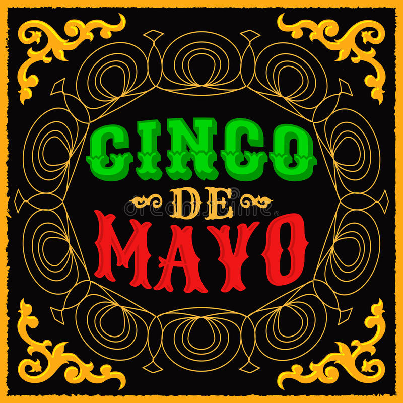 Cinco de mayo - mexikansk traditionell feriedesign royaltyfri illustrationer