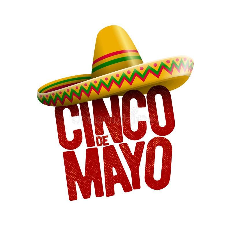 Cinco de Mayo-ontwerp stock illustratie