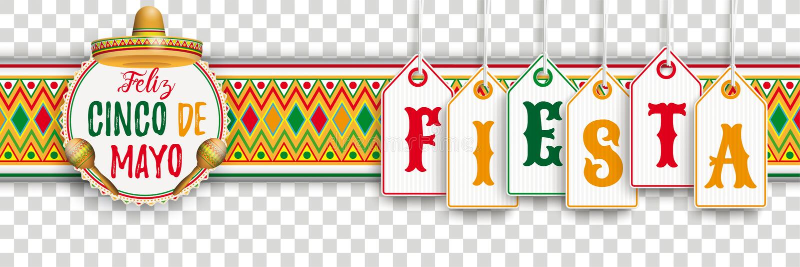 Cinco De Mayo Ornament Headline Emblem-Fiesta