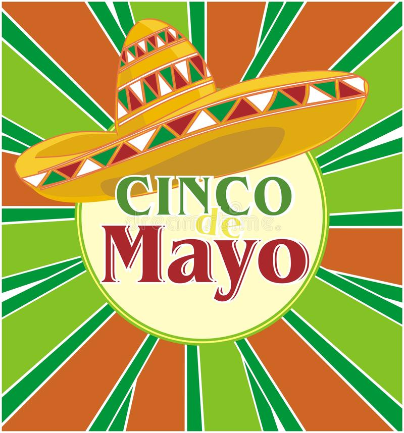 Cinco de mayo parti royaltyfri illustrationer