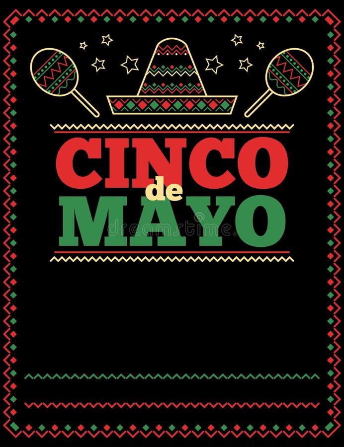 Cinco De Mayo plakata szablon