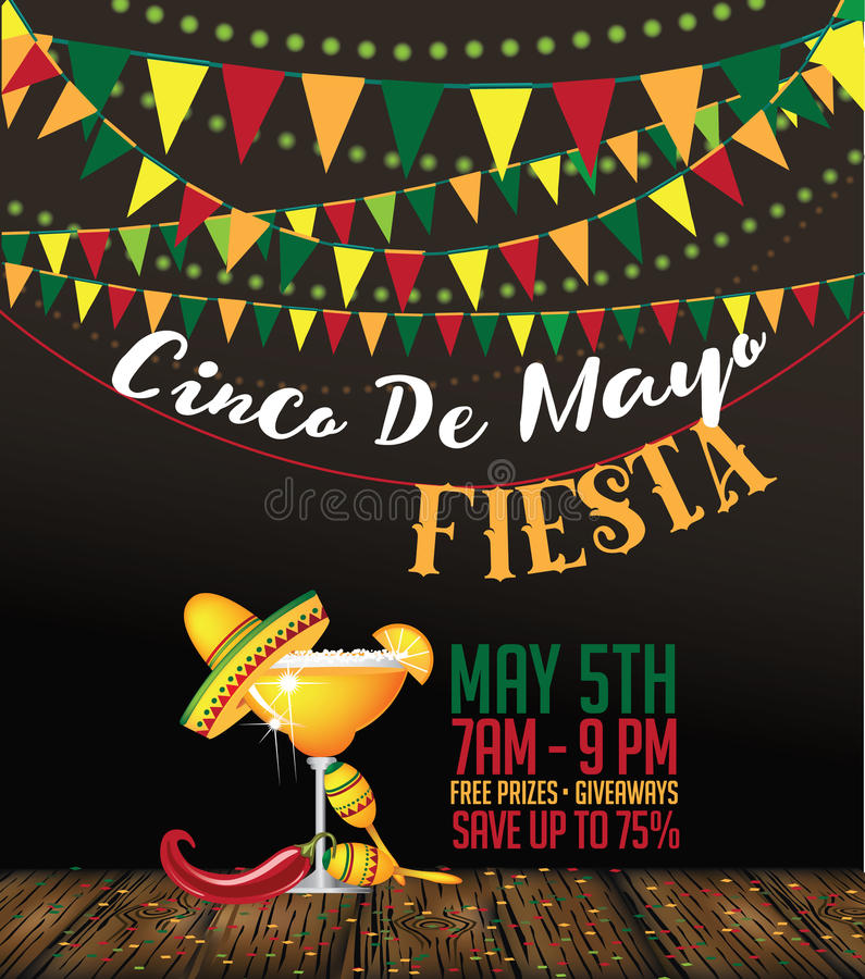 Cinco de Mayo poster. royalty free illustration