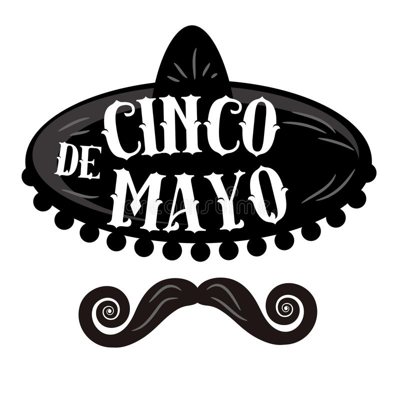 Cinco De Mayo poster. Invitation, web page. Advertising template for Cinco de Mayo party or fiesta. EPS 10 vector royalty free stock illustration stock illustration