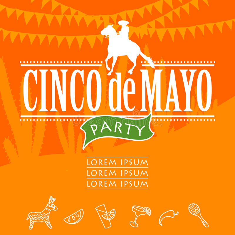 Cinco de Mayo przyjęcie royalty ilustracja