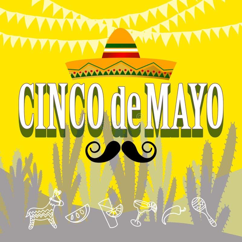 Cinco de Mayo przyjęcie ilustracja wektor