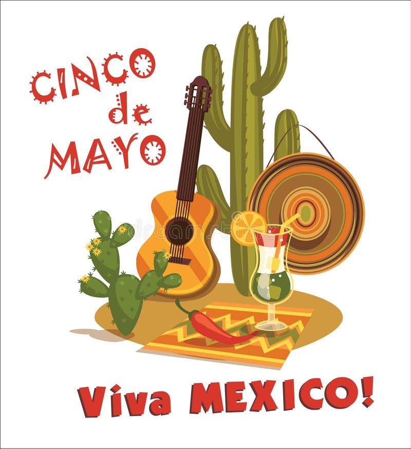 cinco de Mayo również zwrócić corel ilustracji wektora ilustracja wektor