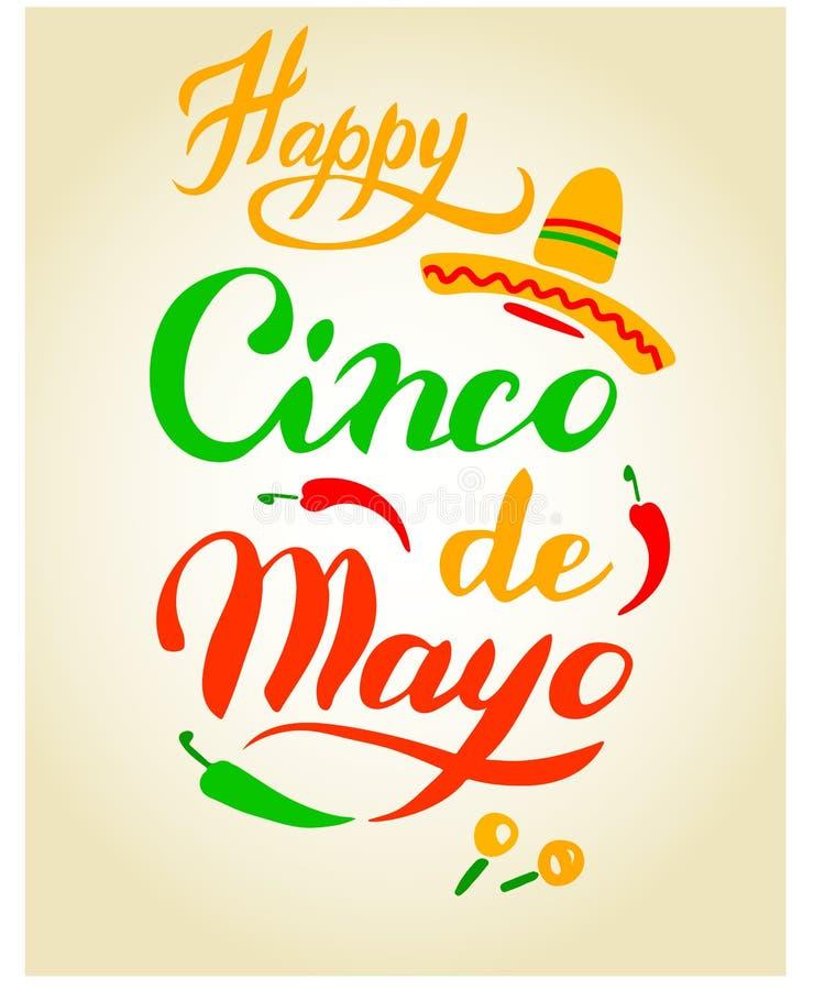Cinco De Mayo ręka rysujący literowanie