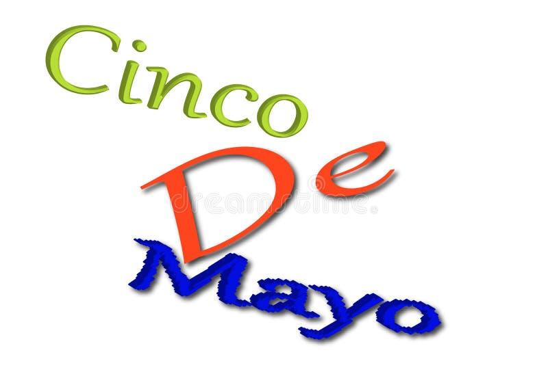 Cinco DE Mayo schrijft illustratie vector illustratie