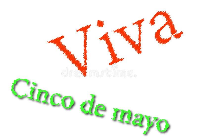 Cinco DE Mayo schrijft illustratie royalty-vrije illustratie