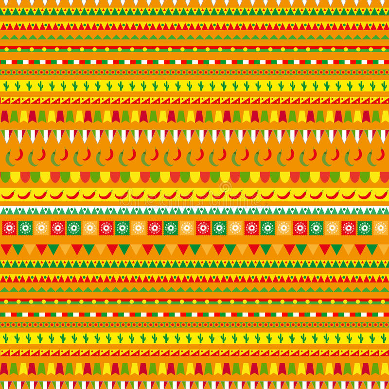 Download Cinco De Mayo Seamless Pattern With A Traditional Ornament Mexican Ethnic Tribal Endless