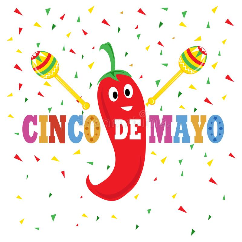 Cinco De Mayo Sign illustration stock