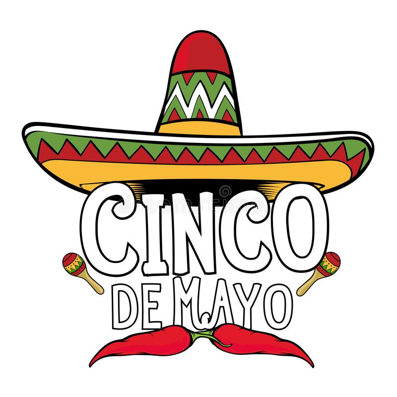Cinco de Mayo sign vector illustration