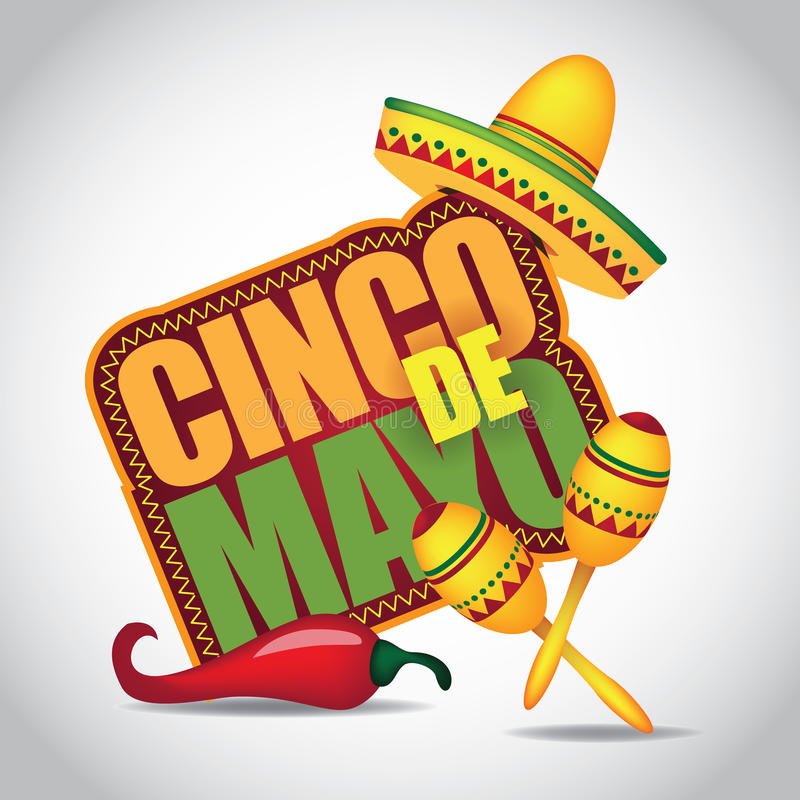 Cinco De Mayo symbol vektor illustrationer