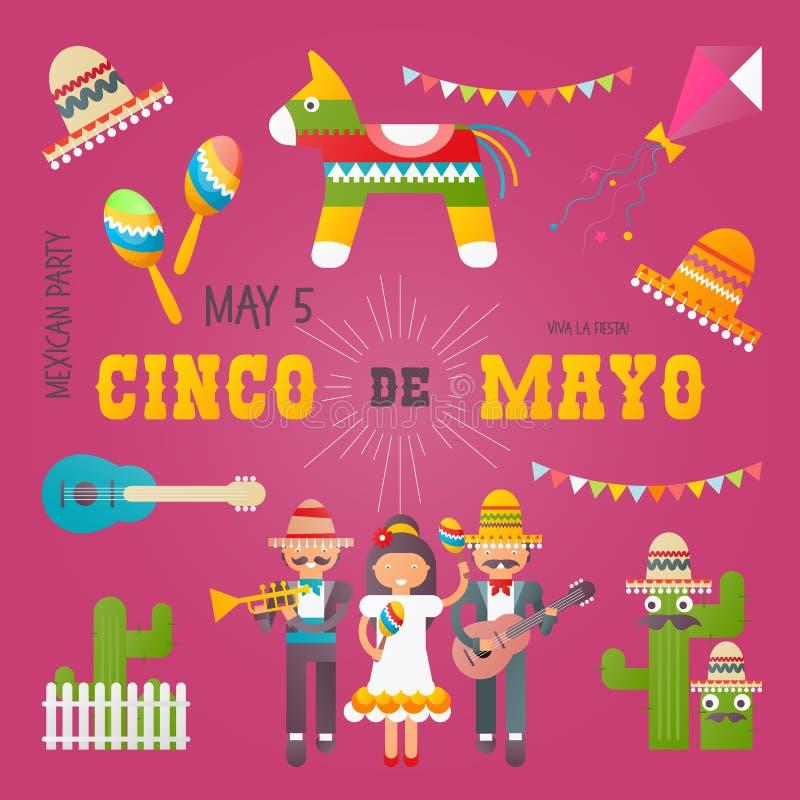 cinco de Mayo royalty ilustracja