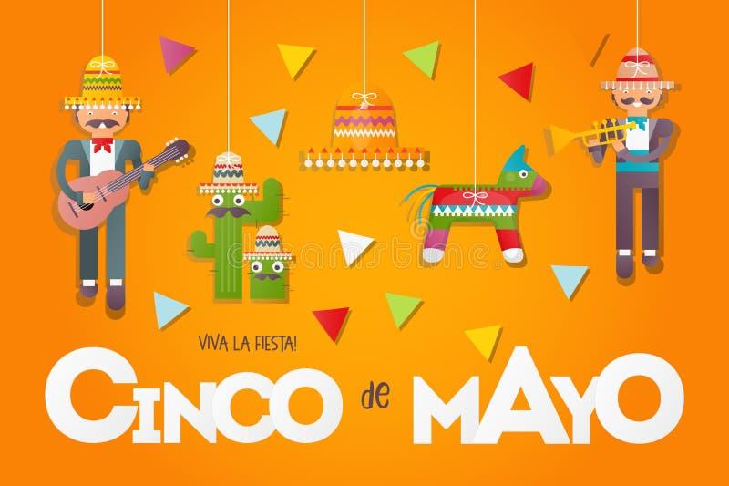 Cinco De Mayo sztandar ilustracja wektor