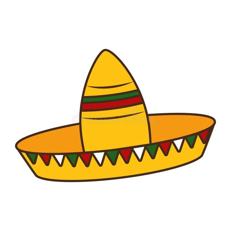 Cinco DE Mayo van Mexico stock illustratie