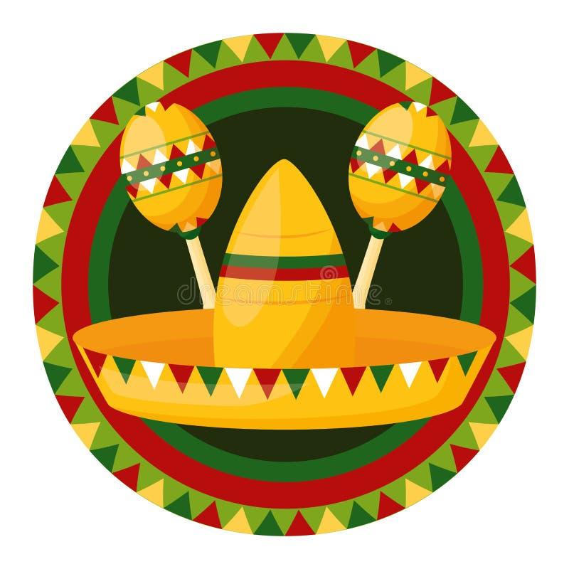 Cinco DE Mayo van Mexico vector illustratie