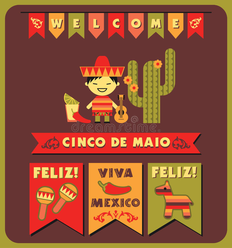 Cinco DE Mayo Vector illustratie vector illustratie