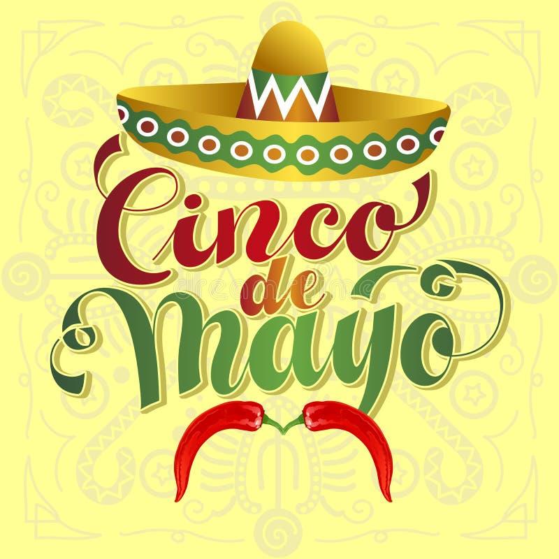 Cinco de Mayo wąs ilustracja wektor