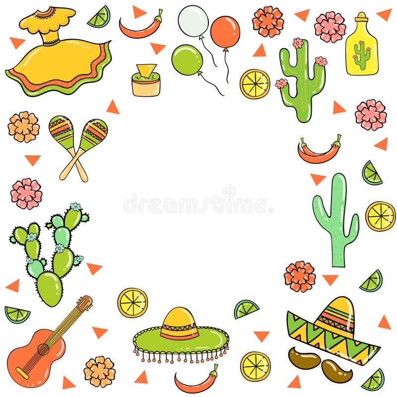 Cinco De Mayo, wakacje karta wektor zdjęcia royalty free