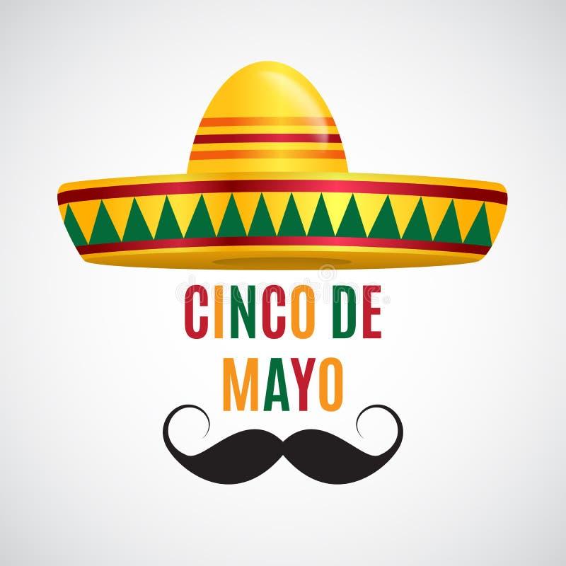 Cinco De Mayo wakacje tło również zwrócić corel ilustracji wektora