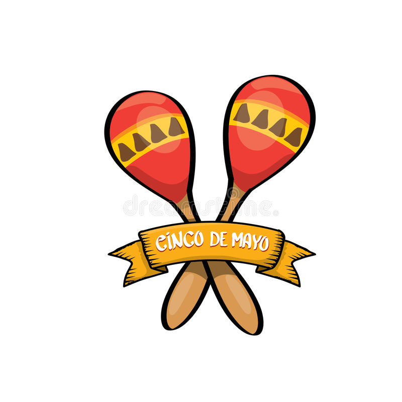 Cinco de Mayo wektoru ikona royalty ilustracja