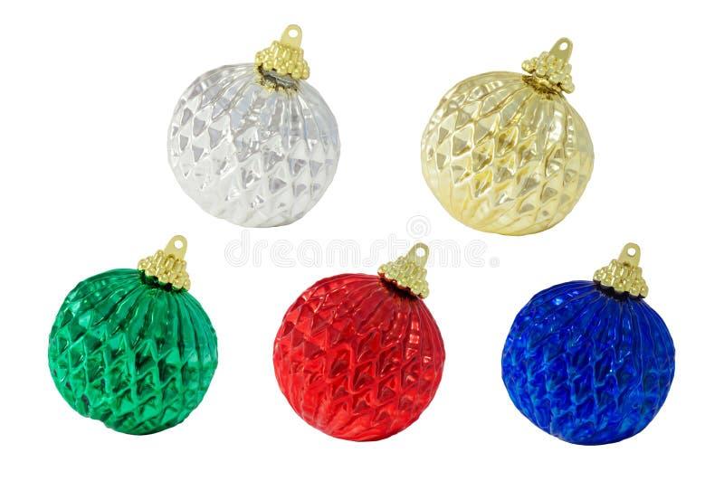 Cinco decoraciones de la Navidad fotos de archivo