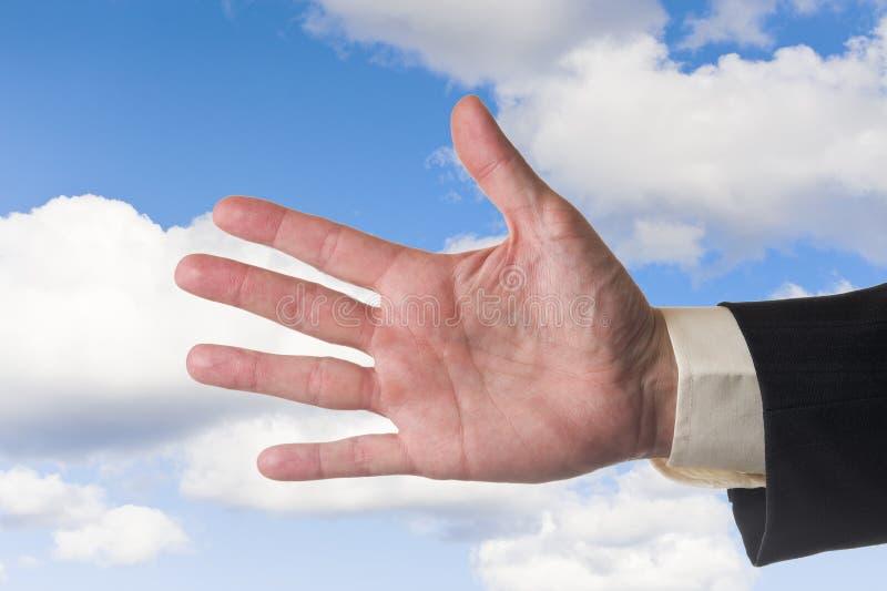 Cinco dedos imagen de archivo libre de regalías