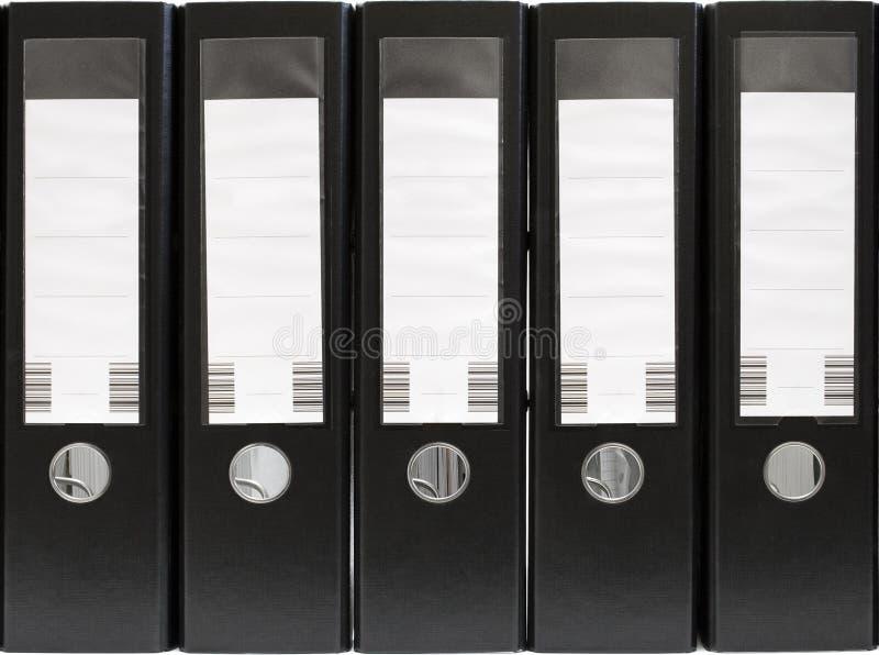 Cinco dobradores em uma fileira (vista dianteira) imagem de stock royalty free