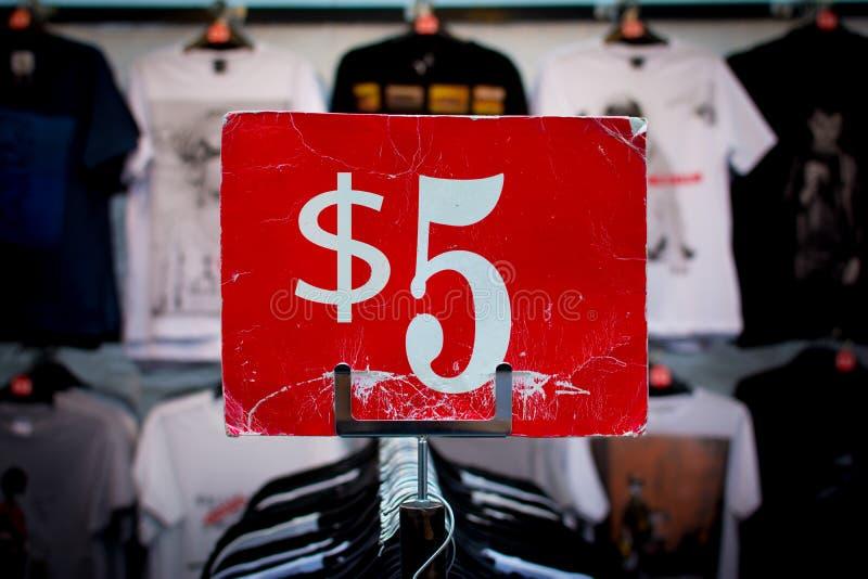 Cinco dolar fotos de archivo libres de regalías