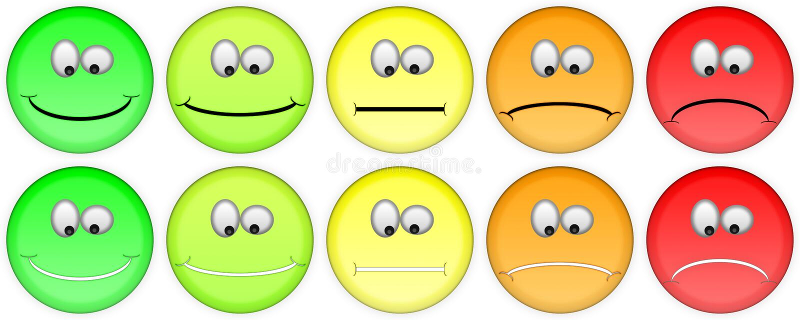 Cinco emojis de clasificación fotos de archivo libres de regalías