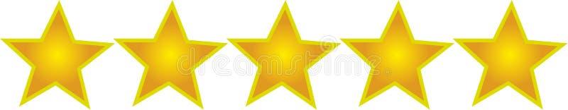 Cinco estrelas ilustração do vetor