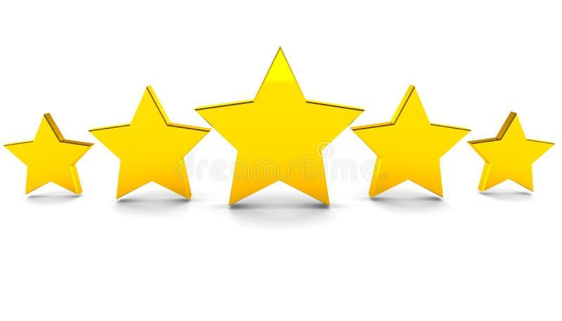 Cinco estrellas stock de ilustración