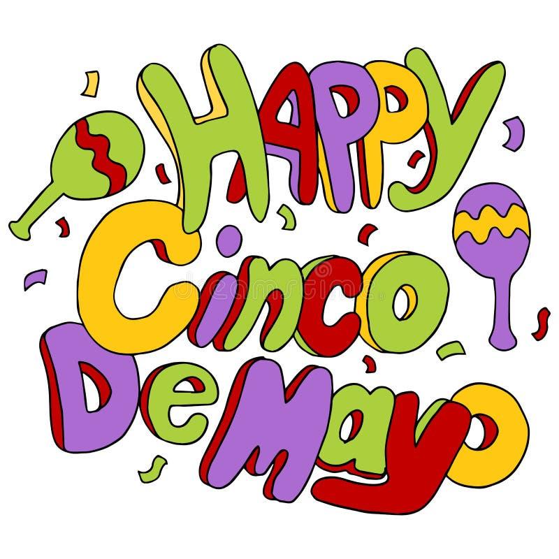 Cinco felice De Mayo royalty illustrazione gratis