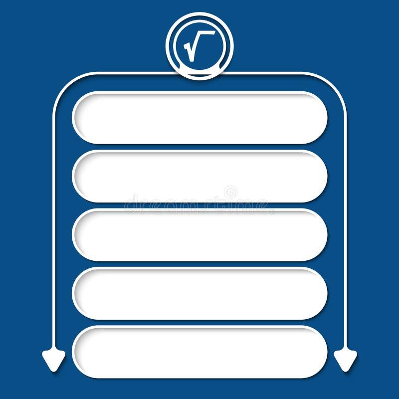 Cinco frames ilustração do vetor