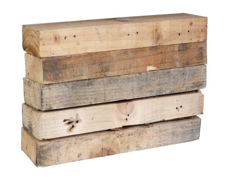 Cinco mós de madeira retangulares do pinho foto de stock royalty free